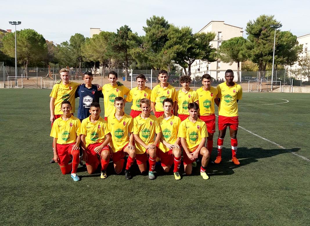 Millau. Football : Les U18 partagent les points avec Vendargues - Millavois.com